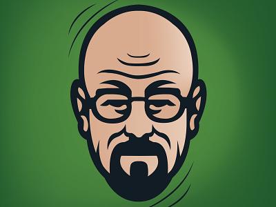 Walter White icon man character avatar logo vector illustration design breakingbad walterwhite walter