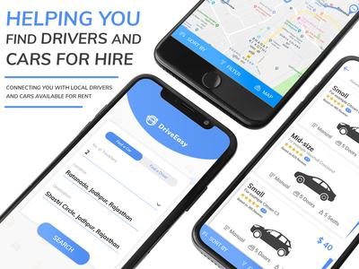 Car rental mobile app design concept - NBN Minds