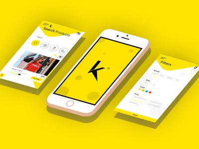 App design concept for women's fashion online store