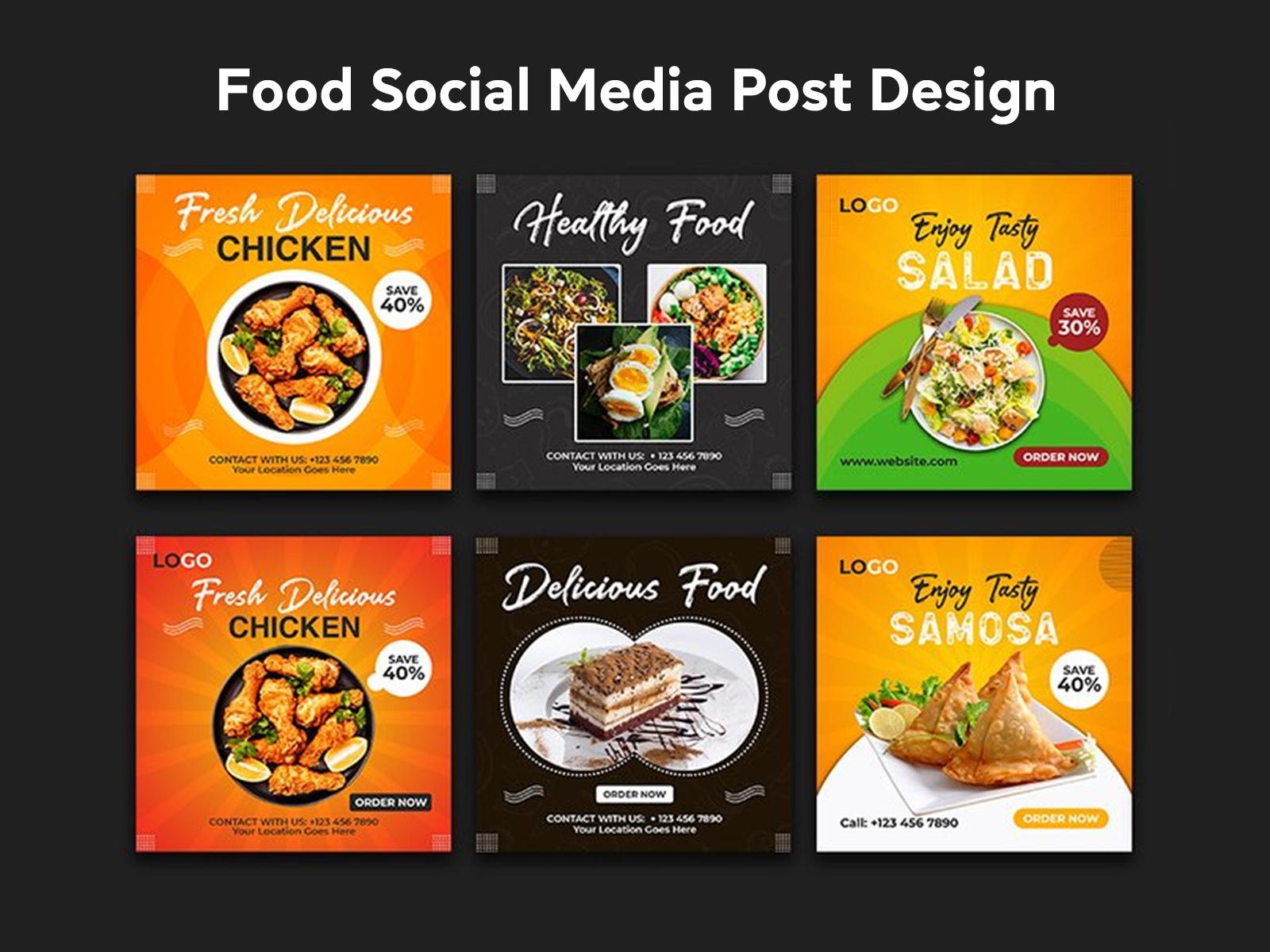 Food Restaurant Social Media Post Design Template By Md Al Mamun On Dribbble