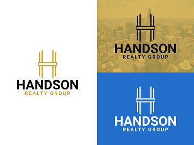 Handson Realty Group Real Estate Logo Design identity logo design mordern branding logo design creative unique business property construction real estate logo realestate