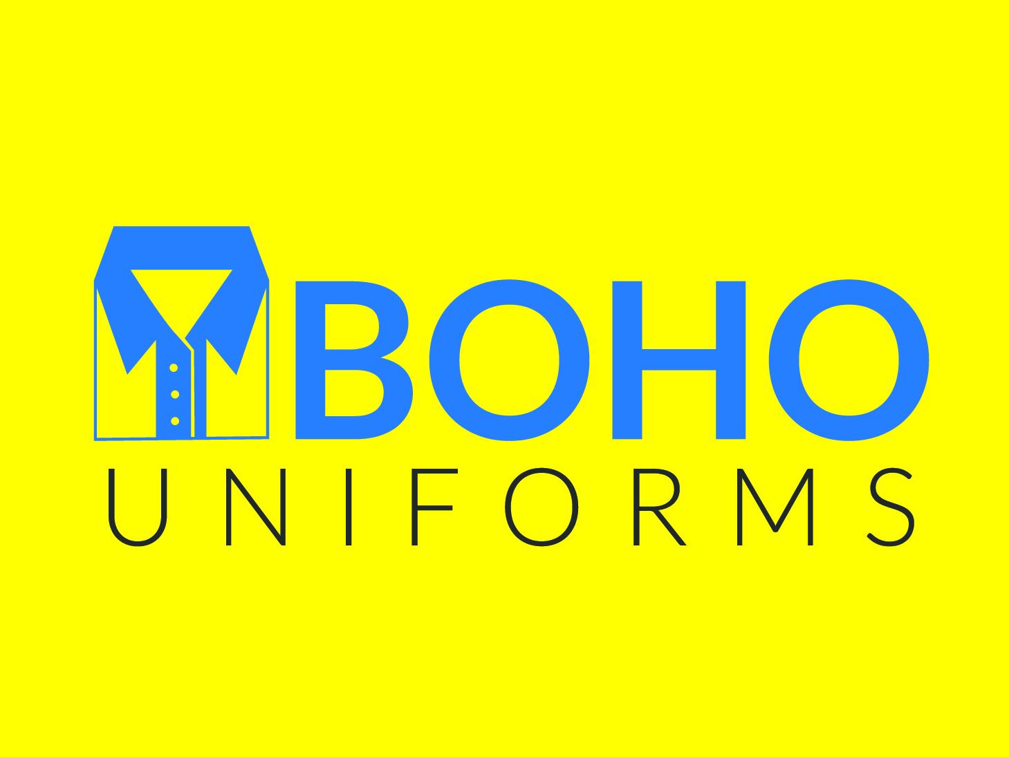 Boho Uniforms Logo2 identity market place online business brand market illustration photoshop business unique mordern vector minimal branding creative flat logo design icon logo design graphic design