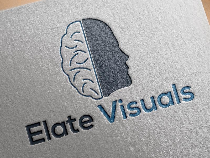 Elate Visuals Logo online business company branding vector illustration minimal mordern photoshop market identity brand unique creative flat icon business logo logo design graphic design design