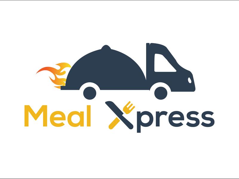 Meal Xpress Logo food flat vector online business company icon busines card market identity brand unique minimal mordern business logo design branding graphic design design creative logo