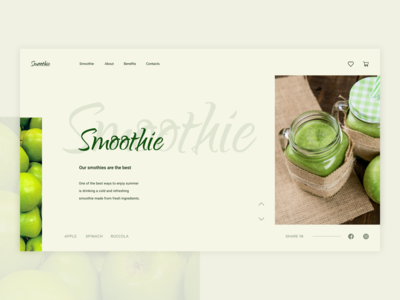 Summer inspiration design system food food and drink desktop ui  ux design ui kit web web design smoothie apple ux design website flat uiux figma minimal concept ui design ui design