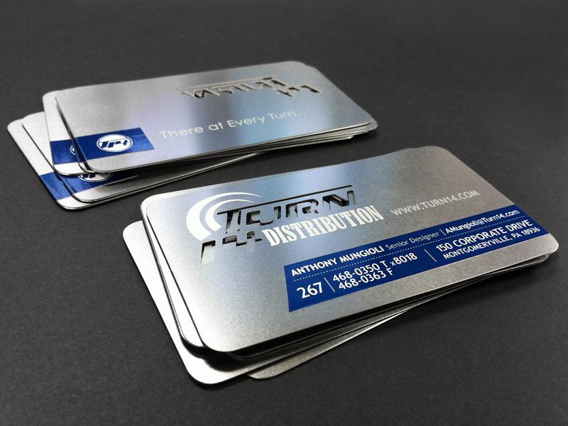 Metal Business Cards business cards metal business cards metal sticker label turn 14