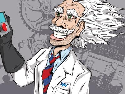 Mad Scientist - Detail science mad scientist scientist illustration lab crazy eyes