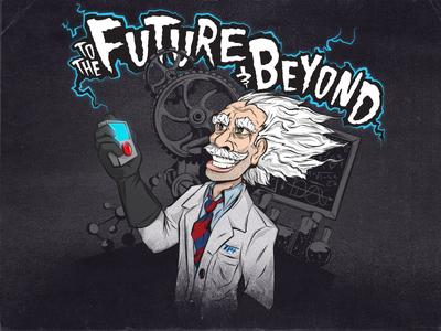 Mad Scientist - Final illustration scientist mad scientist lab science typography crazy electric