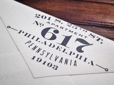 Return Address Stamp typography type design save the date wedding stationery rubber stamp