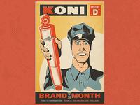 Vintage Koni Poster