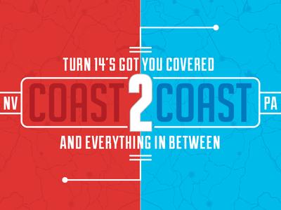 Coast 2 Coast coast 2 coast type map red blue
