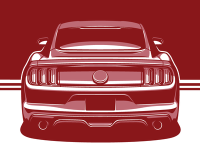 Mustang GT ford mustang modern muscle muscle car car automotive s550 illustration mustang gt mustang