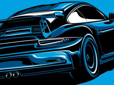 Porsche 911 GT3 RS porsche 911 stylized illustration sports car fast speed race car gt3 auto vector car porsche