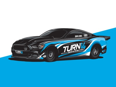 John Urist x Turn 14 Mustang ford mustang muscle car automotive race car ford vector car mustang