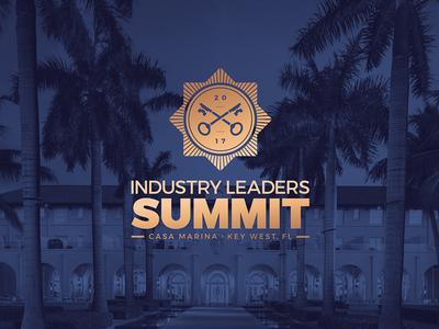 Industry Leaders Summit Logo gold florida sun key key west logo