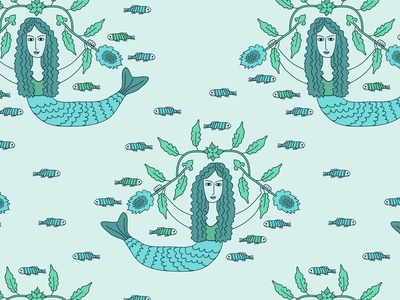 Seamless mermaids