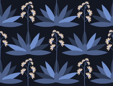 Seamless agave pattern