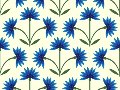 Seamless cornflowers