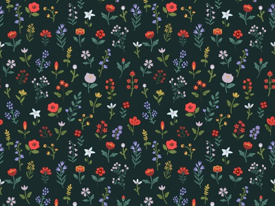 Seamless floral pattern seamless pattern design flower surface design simple decorative floral texture seamless pattern