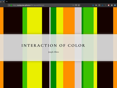 Interaction of Color 100 layouts project greensock css grid