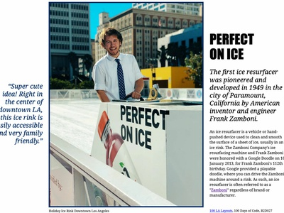 Perfect on Ice css grid los angeles zamboni 100 layouts project