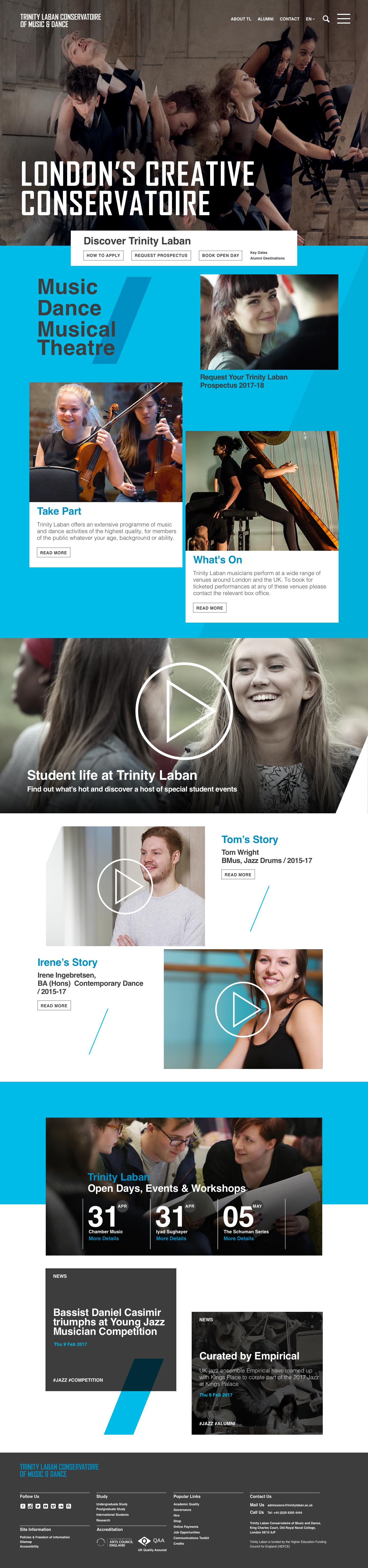 Trinitiy laban   homepage