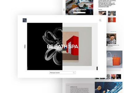 Bath Spa University award winning white clean web design responsive university education homepage desktop website web ux ui