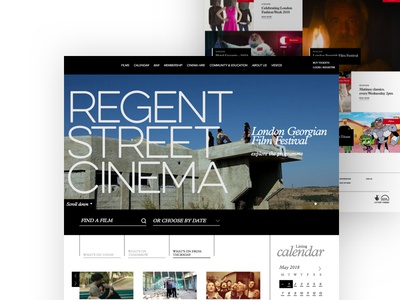 Regent Street Cinema website ticketing london cinema white clean web design responsive homepage desktop web ux ui