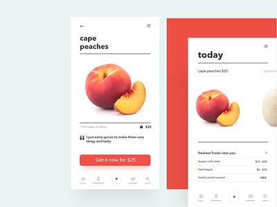 "🔥 Food Sharing ""Idla"" App For iPhone minimal app design rebound landing page interaction visual desigb user-eperience design ui ux"