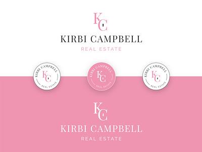 Kirbi Campbell Real Estate 🏡 badgedesign badge freelance key key hole kc real estate designer typography digital designer type logo identity digital design brand branding graphic  design design