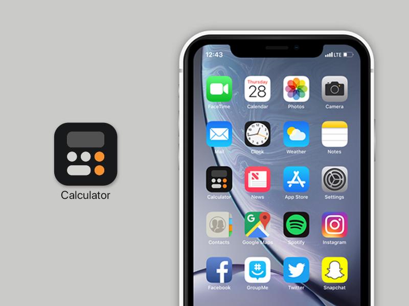 Calculator App   Redesign concept redesign ios apple userinterface userinterfacedesign calculator app digitaldesign uiuxdesign uiux icon vector minimal app design minimal appdesign app uidesign graphic  design design ui