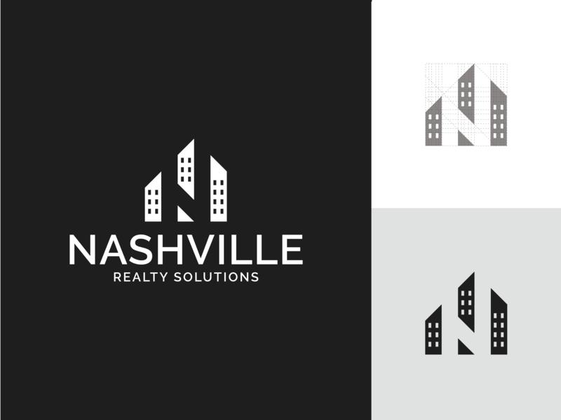 Nashville Realty Solutions 🌆 real estate brand identity logotype grid digital designer digital design type typography logo deisgn illustrator branding brand identity logo grid vector minimal icon graphic  design design logo