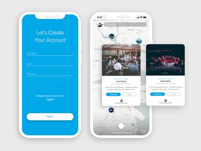 Login & Home Screen UI