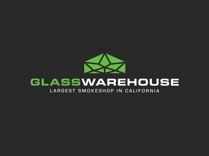 Glass Warehouse type warehouse glass headshop california smokeshop smoke designer digital designer digital design vector typography logo deisgn icon logo identity branding brand graphic  design design