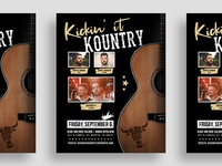 Kickin' it Kountry Flyer Design 🤠