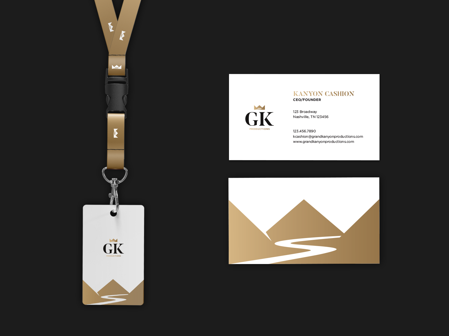 Grand Kanyon Productions 🎶 mockup businesscard lanyard grand event productions designer type digital designer icon digital design vector logo deisgn typography logo identity branding brand graphic  design design
