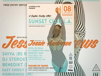 Jessie Andrews Party Flyer