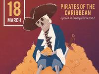 Pirates of the Caribbean Anniversary Illustration