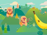Math Chimp illustration & Site Design
