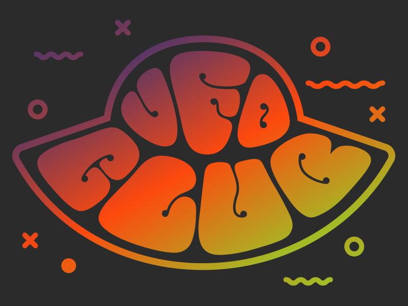 UFO Club Logo logo ufo club 60s 70s psychedelic type space