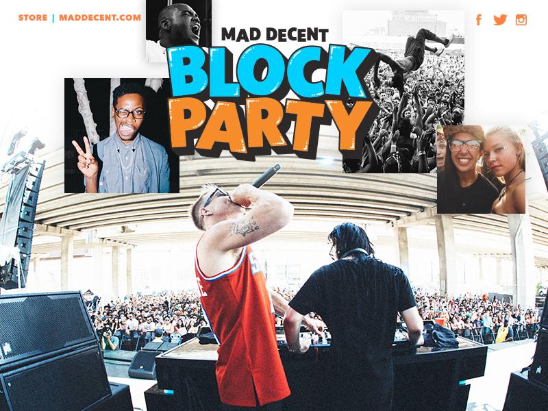 Mad Decent Block Party 2015 block party web design ui festival diplo mad decent