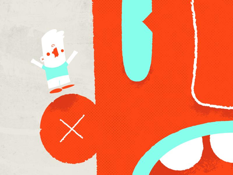 Pomelo - 001 3-color comic character illustration