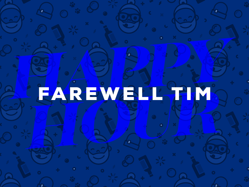 Farewell Tim Happy Hour flyer happy hour untapped tim pattern