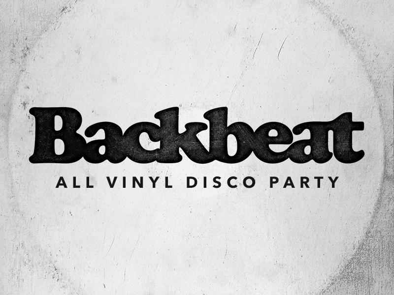 Backbeat Logo texture event party disco vinyl cooper black type logo