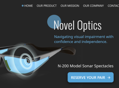 Novel Optics SplashPage