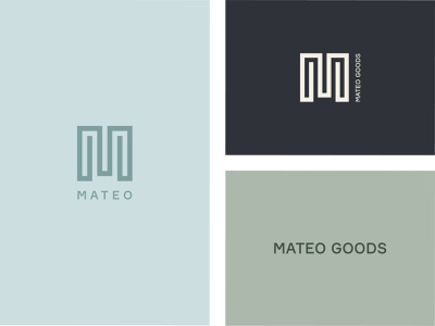 Mateo Goods Logo Variations and Icons minimalistic icons minimalistic icon design icons icon typography graphic design design branding brand