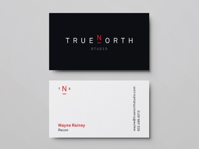 True North Studio Business Cards logo business cards business card design business card logotype logodesign typography brand branding graphic design design