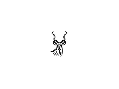 Tribute to my birthplace...miss ya! minimal animal vector brand logo icon kudu