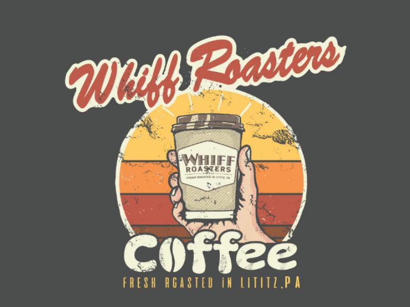 Whiff Roasters coffeemaker vintage funny hipster retro apparel tshirt coffee
