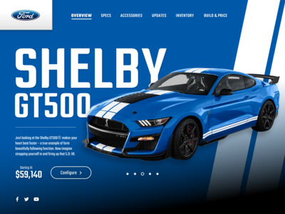 Ford Mustang - Landing Page